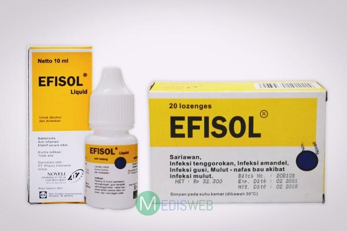 efisol cair dan tablet hisap